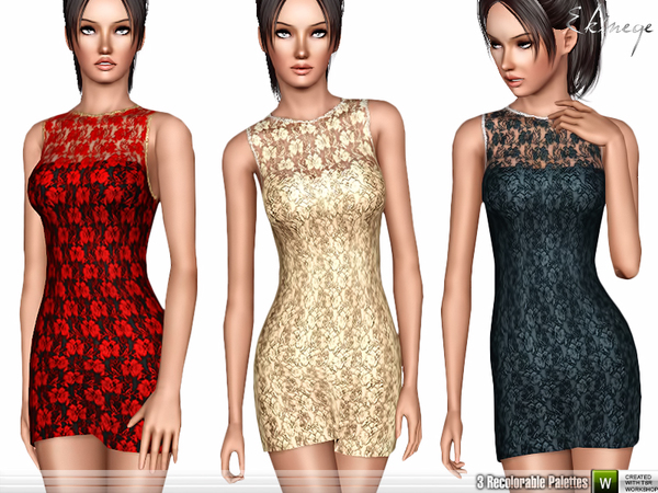 Sleeveless Lace Bodycon Dress by ekinege