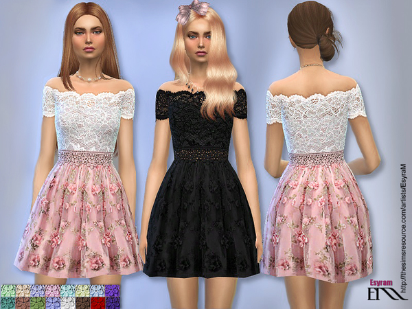 Floral Applique Tulle Dress by EsyraM