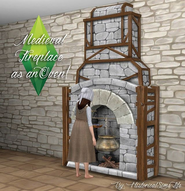 TSM Fireplace as an Oven by HistoricalSimsLife