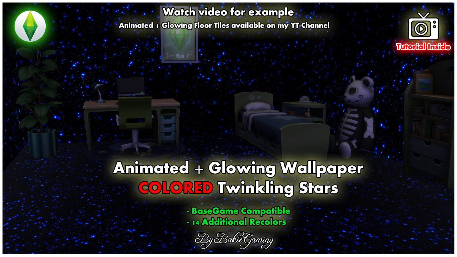 Animated Wallpaper - Colored Twinkling Stars by Bakie