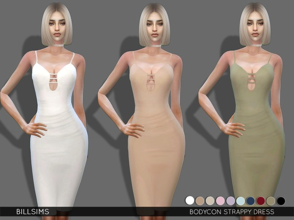 Bodycon Strappy Dress by Bill Sims