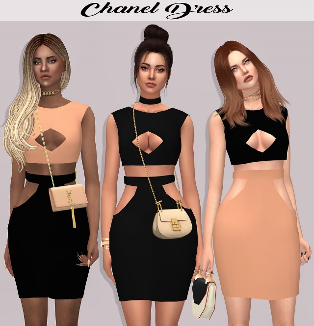 Chanel Dress by lumy-sims