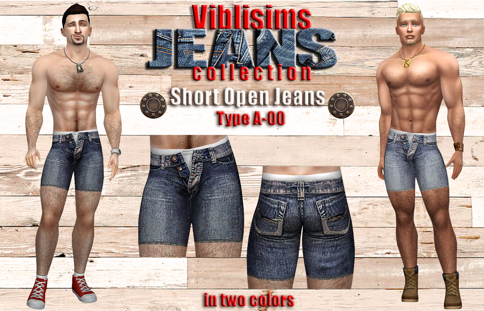 Short Open Jeans  Type A-00 - Viblisims Jeans Collection by ciaolatino38