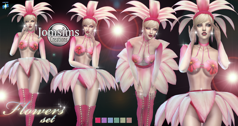 Flowers Costume Set by JomSims
