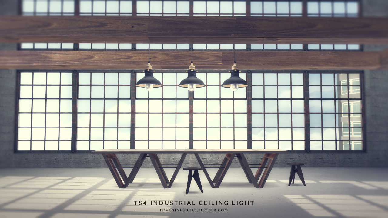 Industrial Ceiling Light by LNS