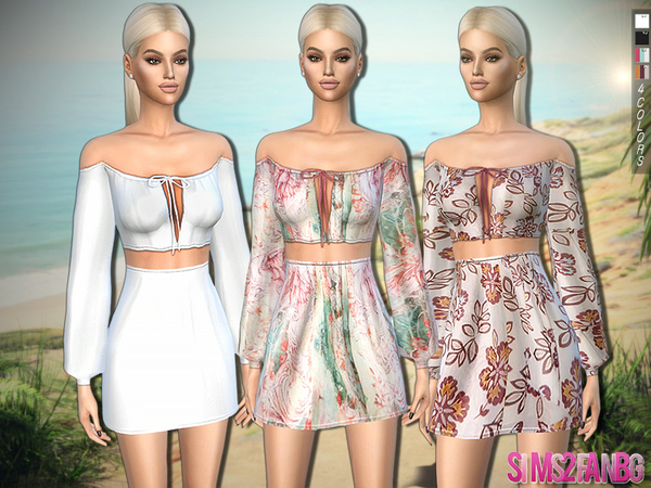 318 - Summer Outfit by sims2fanbg