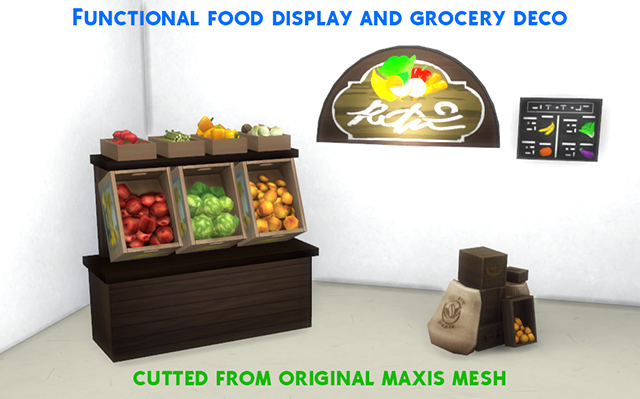 Functional Grocery Set by Alex Croft