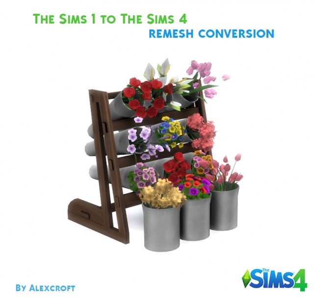 Flower Display Conversion from The Sims 1 Hot Date by Alex Croft