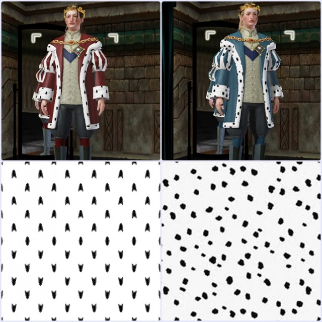 2 Medieval Ermine Fur Patterns by Sims3medieval
