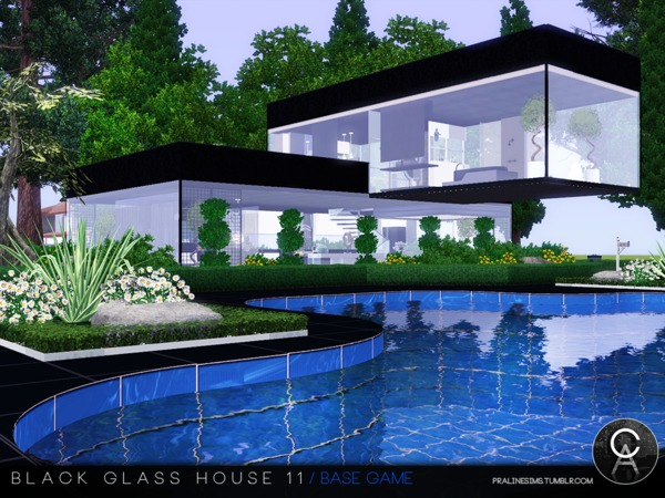 Black Glass House 11 by Pralinesims