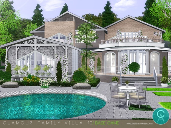 Glamour Family Villa 10 by Pralinesims