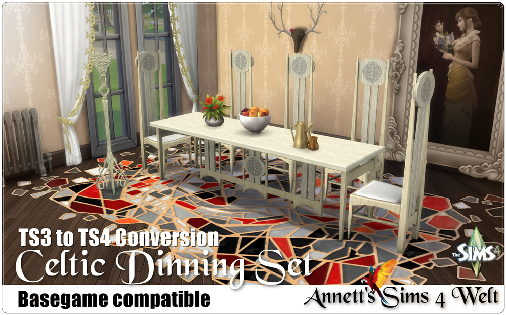 Celtic Dining Set - TS3 to TS4 Conversion by Annett85