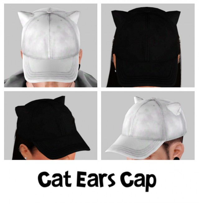 Cat Ears Cap by girl-just-simming-around