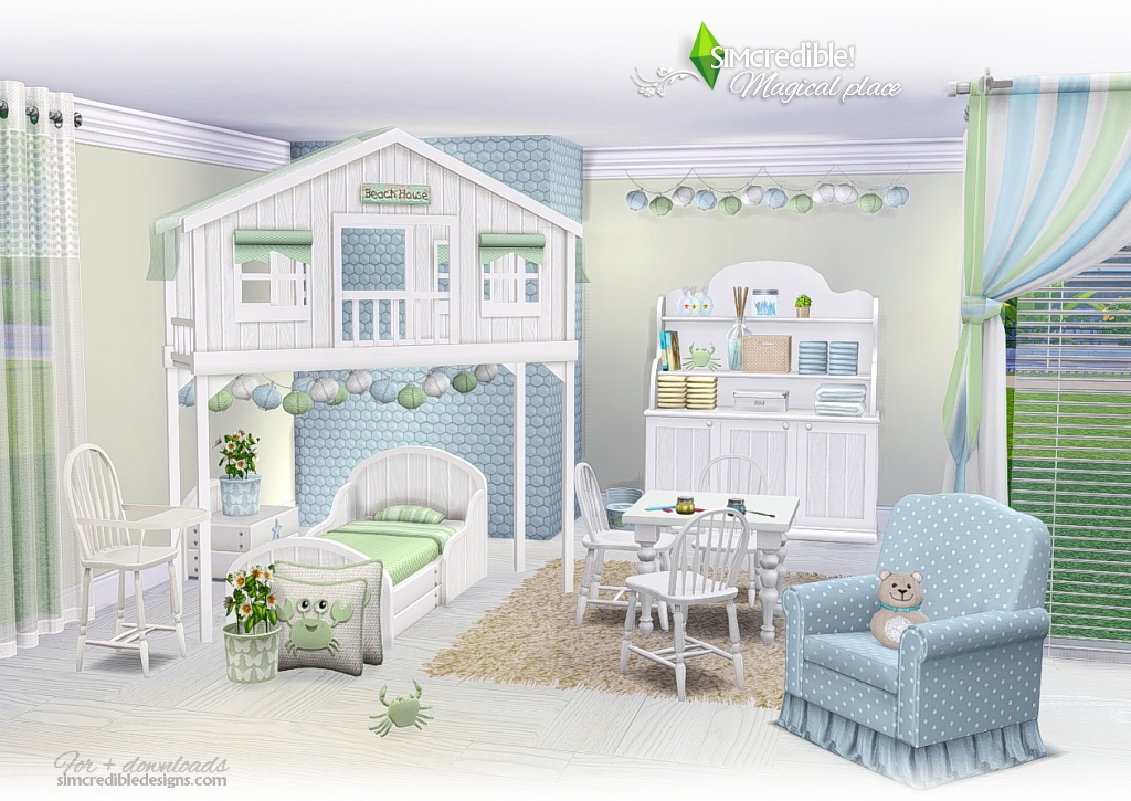 Magical Place Toddler's and Kid's Room Set by SIMcredible Designs