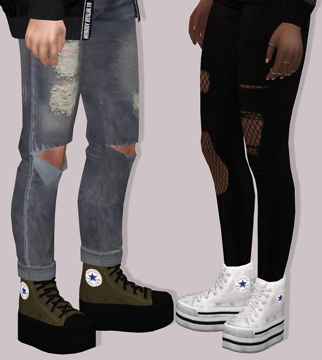 Pixicat Converse Platform by Lumy-sims