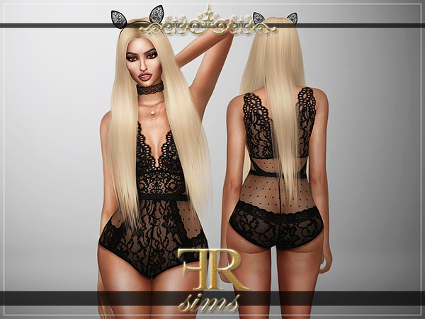 Fatal Attraction Bodysuit (Outfit & Acc) by FashionRoyaltySims