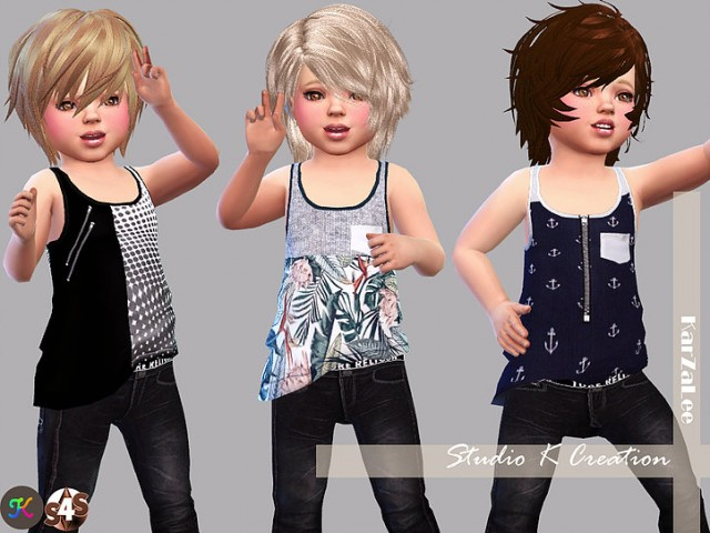 Giruto 23 - tank top for toddler by Karzalee
