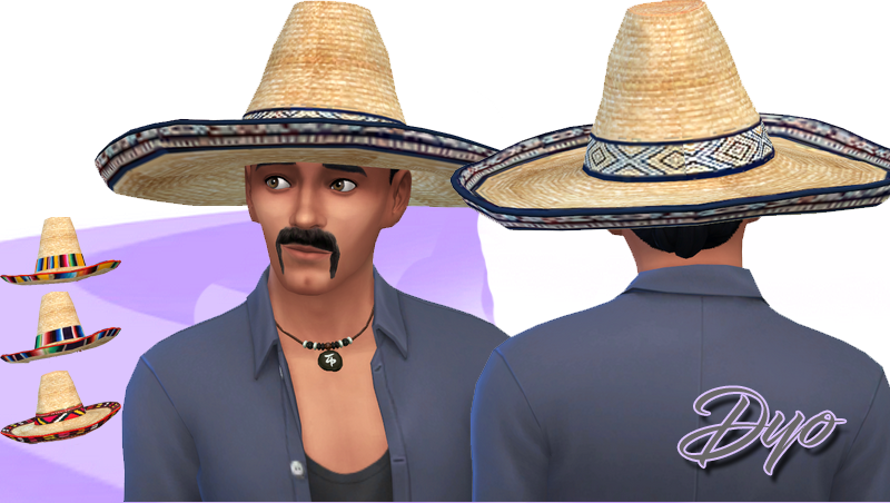 Sombrero Hat for Males by Dyokabb
