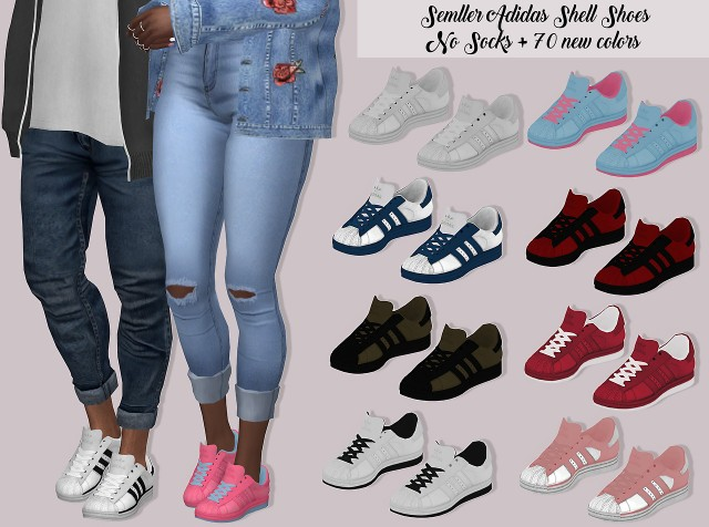Semller Adidas Shell Shoes No Socks by Lumy-Sims
