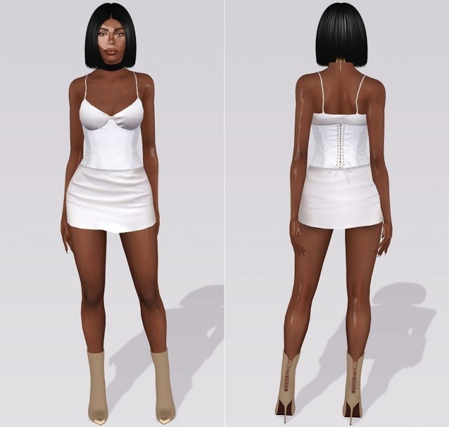ThePerfext for FWRD Alessandra short slip dress with Kendall + Kylie corset by alecseycool