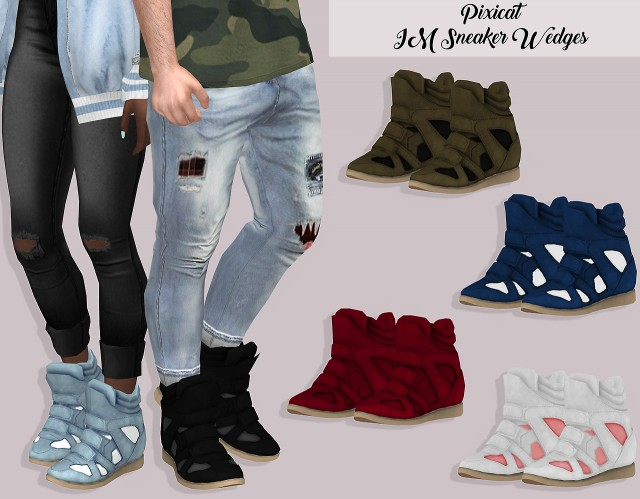 Pixicat IM Sneaker Wedges by Lumy-sims