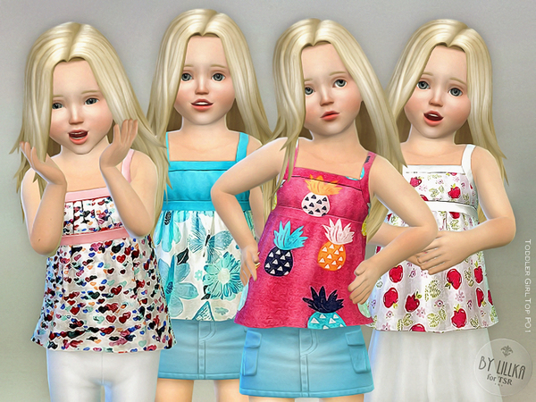 Toddler Girl Top P01 by lillka