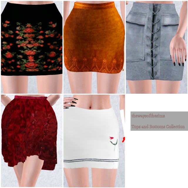 5 Tops + 5 Skirts by thewaysofthesims