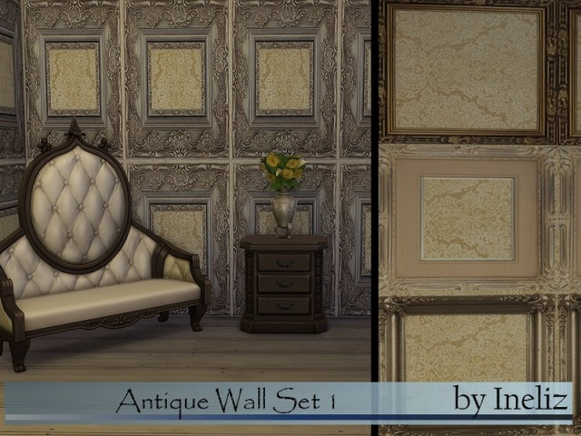 Antique Wall Set 1 by Ineliz
