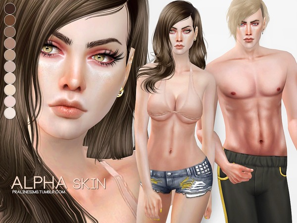 PS Alpha Skin by Pralinesims