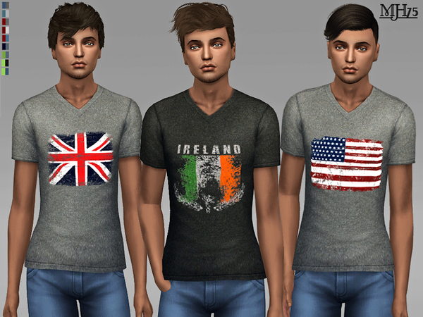 S4 Vintage Flag Tees by Margeh-75