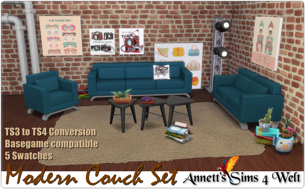 TS3 Modern Couch Set Conversion by Annett85