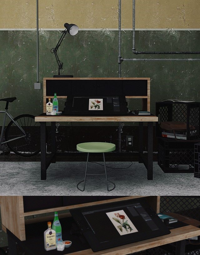 MarcusSims91 Task Office Set by DreamTeamSims
