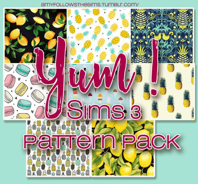 Pattern pack by amyfollowsthesims