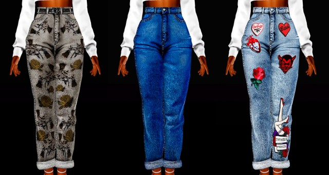 Savage Sims Milf Jeans Converted by annoyinglydarkblaze