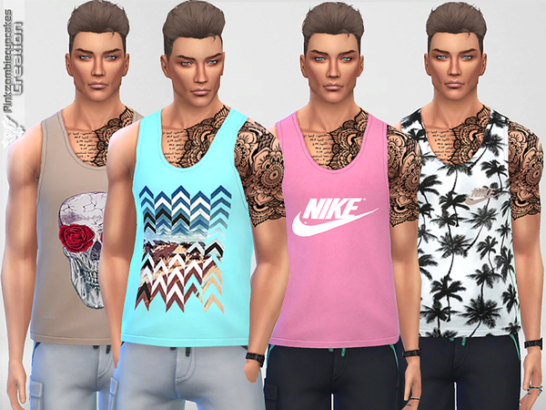 Male Tank Top Collection 01 Breeze by Pinkzombiecupcakes
