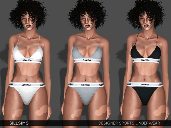 Designer Sports Underwear by Bill Sims