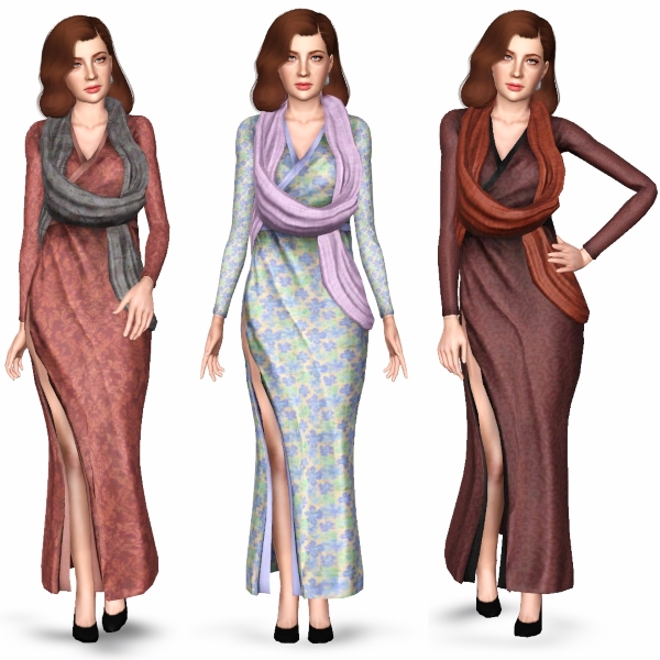 Vampire Wrap Dress For EF by SimplexSims