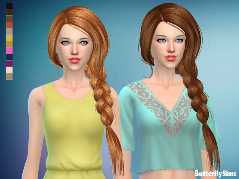 Hair 190f-No hat by ButterflySims