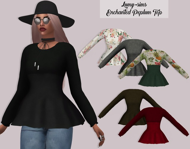 Enchanted Peplum Top by LUMY-SIMS