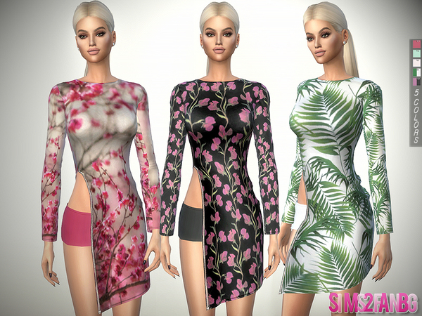 327 - Open Spring Dress With Zip by sims2fanbg