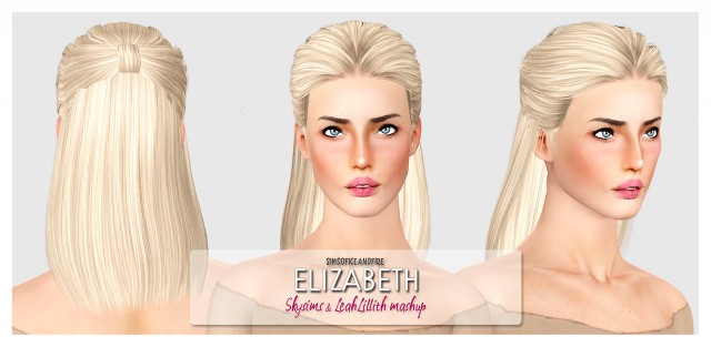 Elizabeth Hair by simsoficeandfire