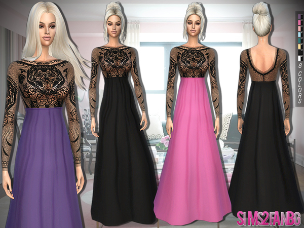 328 - Evening Gown by sims2fanbg