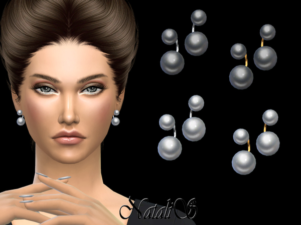 NataliS_Double pearl earrings