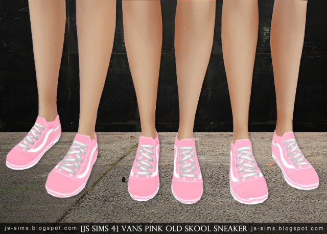 Vans Pink Old Skool Sneaker by JS SIMS 4