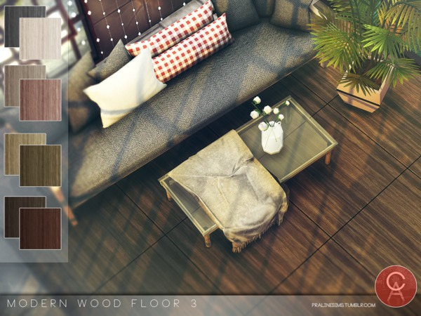 Modern Wood Floor 3 by Pralinesims