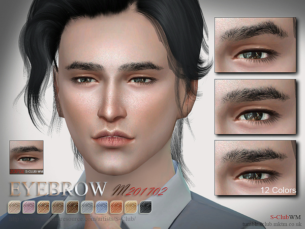S-Club WM ts4 Eyebrows M 201702