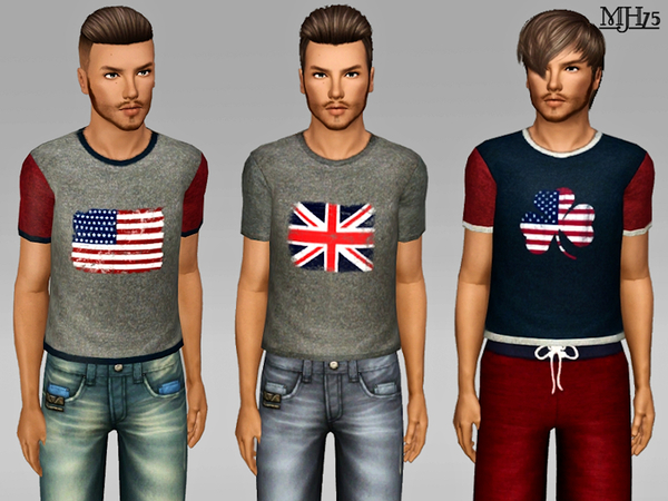S3 Vintage Flag Tees by Margeh-75