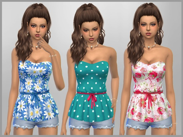 Patterned Peplum Tops by SweetDreamsZzzzz