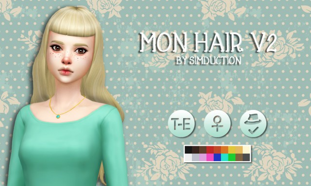 Mon Hair V2 by Simduction