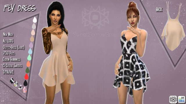 FEY DRESS by SweetSorrowSims